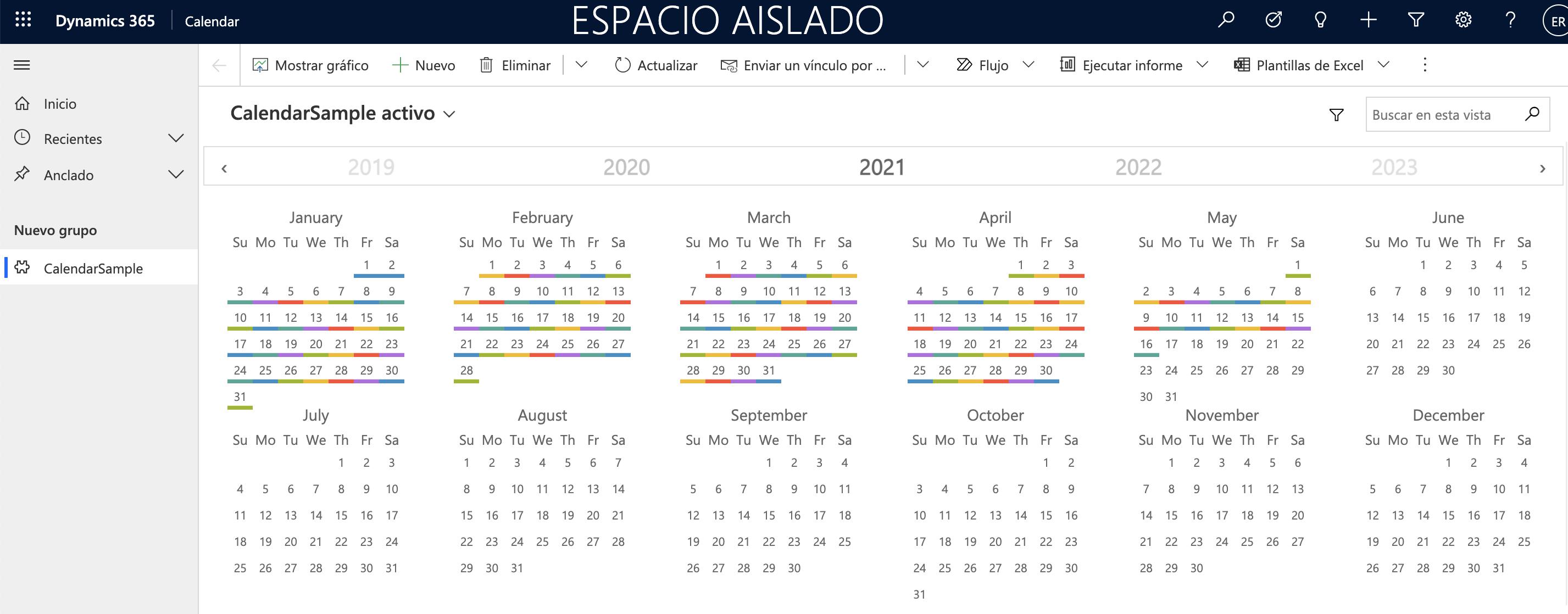 Configure Year Calendar Control